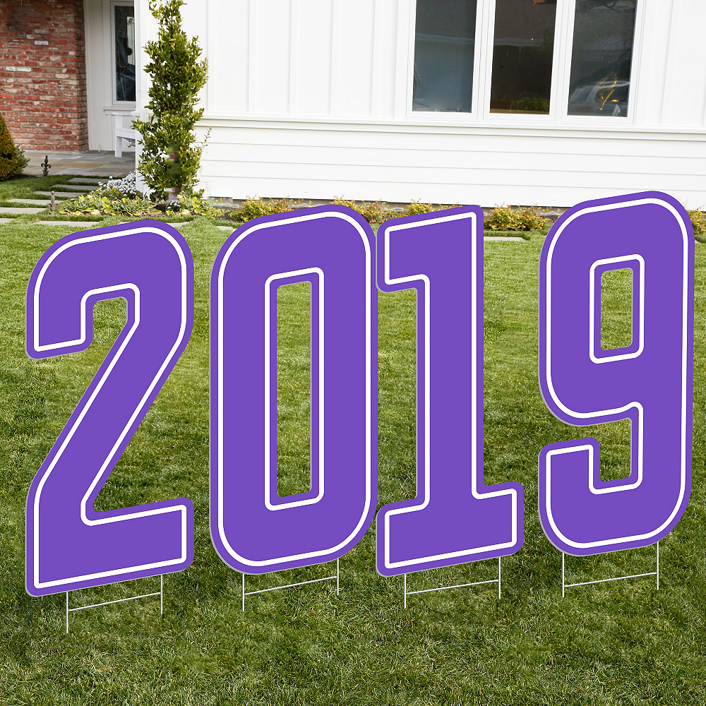 Giant Purple 2019 Number Outdoor Sign Kit Image #1