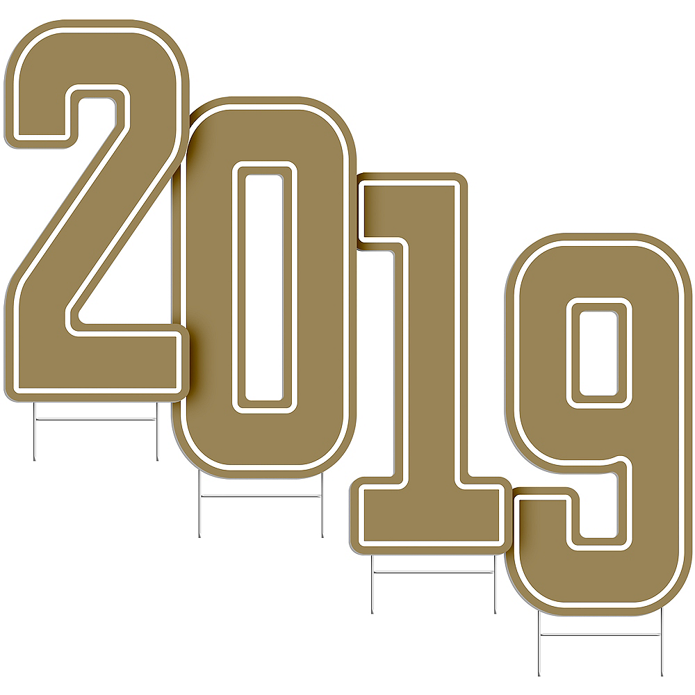 Giant Gold 2019 Number Outdoor Sign Kit Image #2