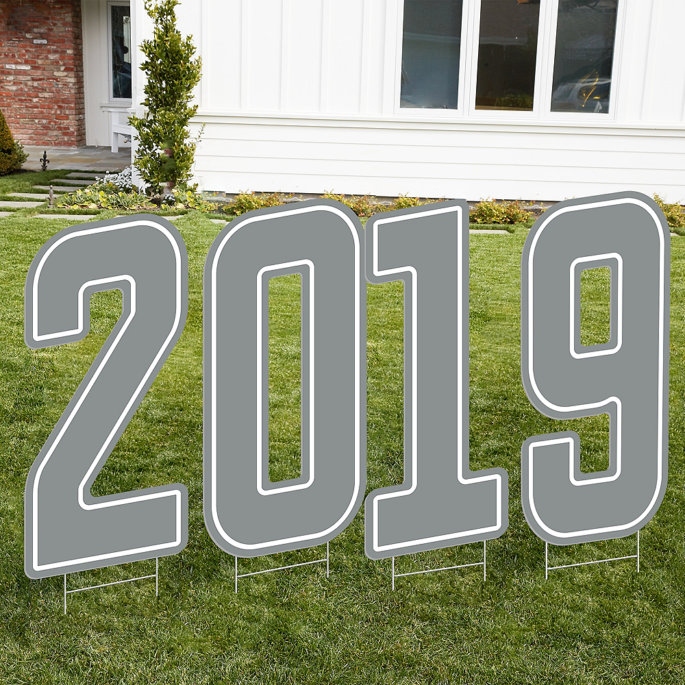 Giant Silver 2019 Number Outdoor Sign Kit Image #1