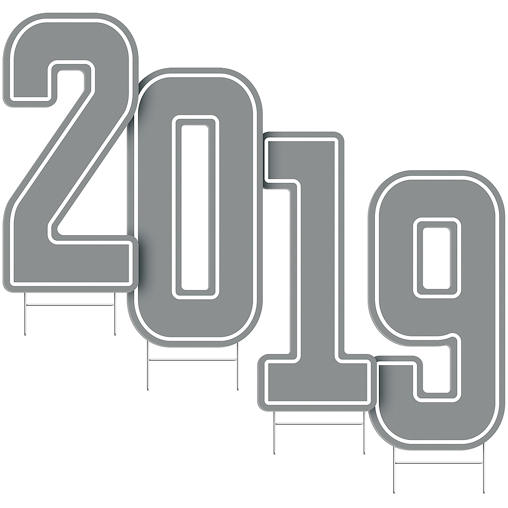 Giant Silver 2019 Number Outdoor Sign Kit Image #2