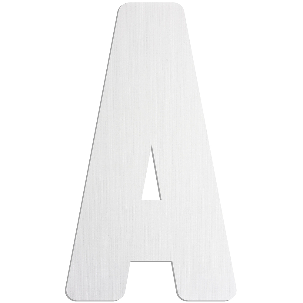 Giant A Letter Cardboard Cutout Image #1