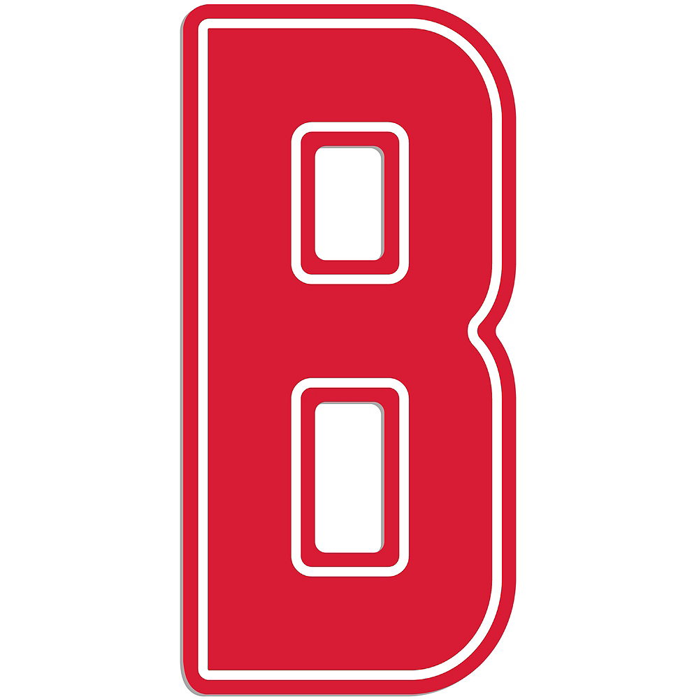 Giant Red B Letter Outdoor Sign Image #1