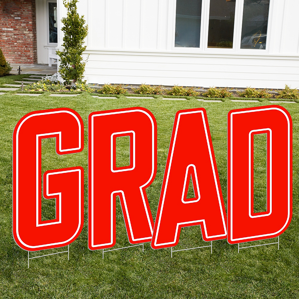 Giant Red D Letter Outdoor Sign Image #2