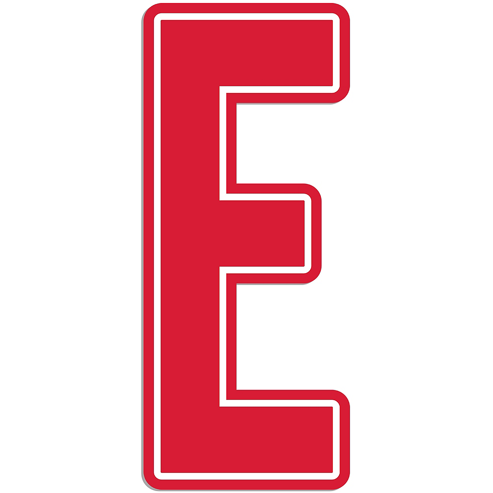 Giant Red E Letter Outdoor Sign Image #1