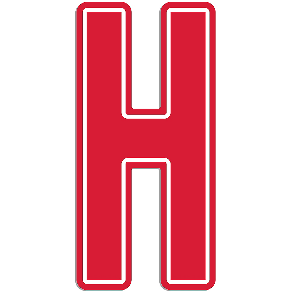 Giant Red H Letter Outdoor Sign Image #1