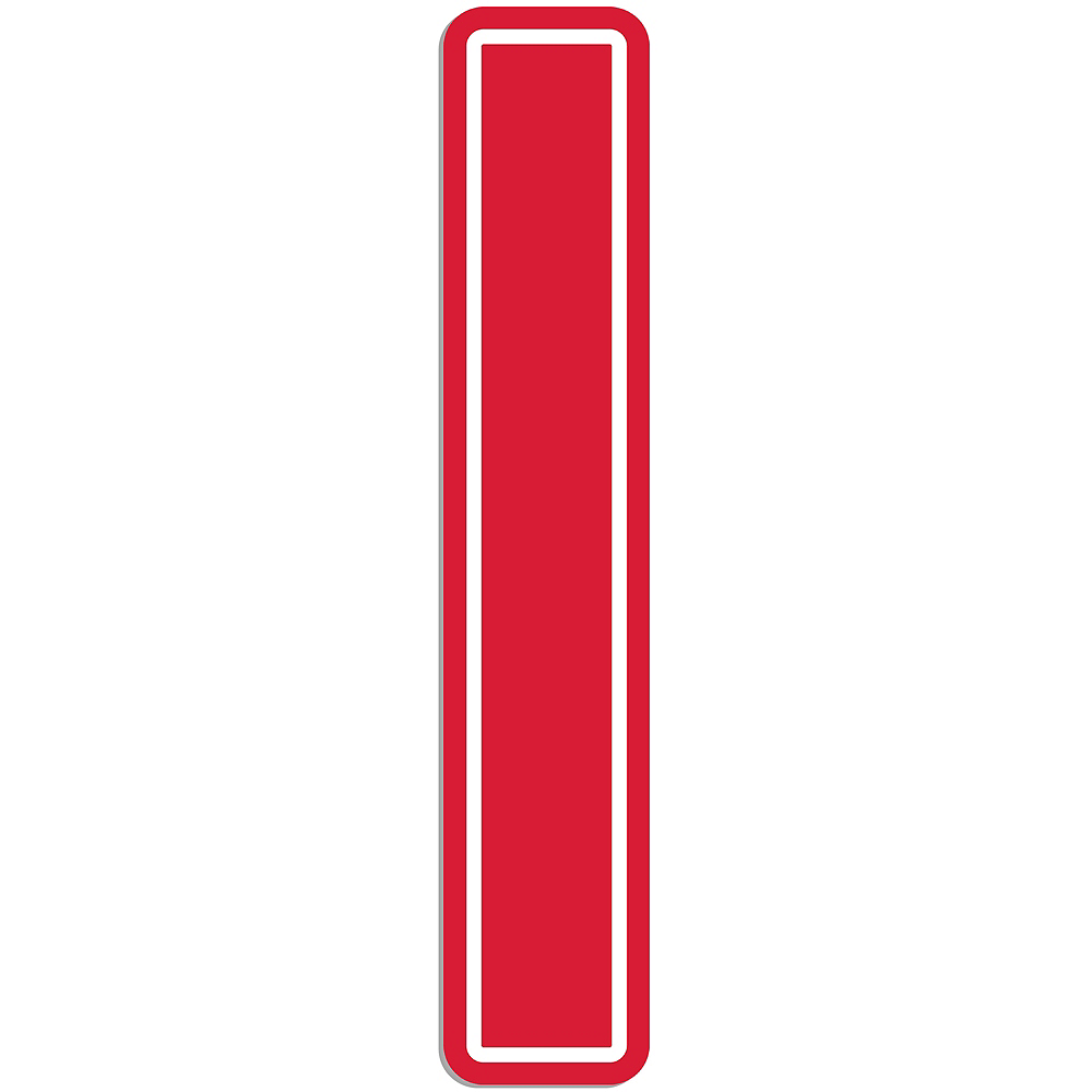 Giant Red I Letter Outdoor Sign Image #1