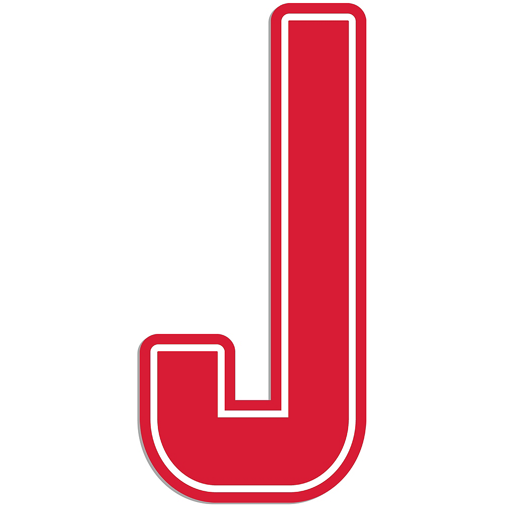Giant Red J Letter Outdoor Sign Image #1