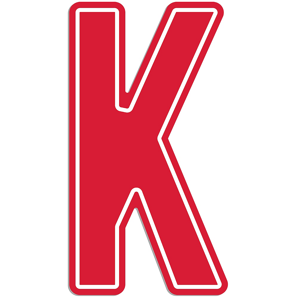 Giant Red K Letter Outdoor Sign Image #1
