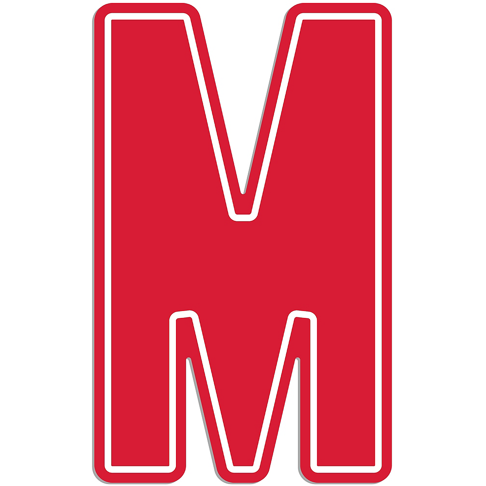 Giant Red M Letter Outdoor Sign Image #1