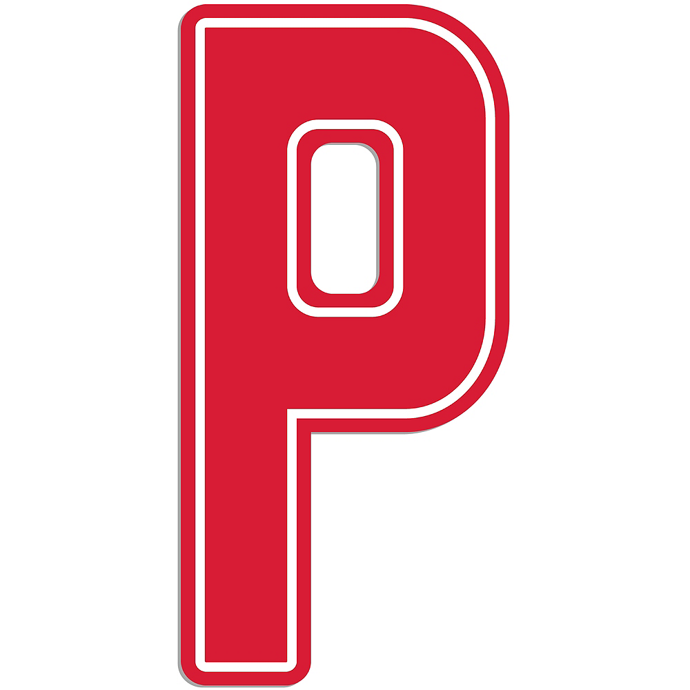Giant Red P Letter Outdoor Sign Image #1