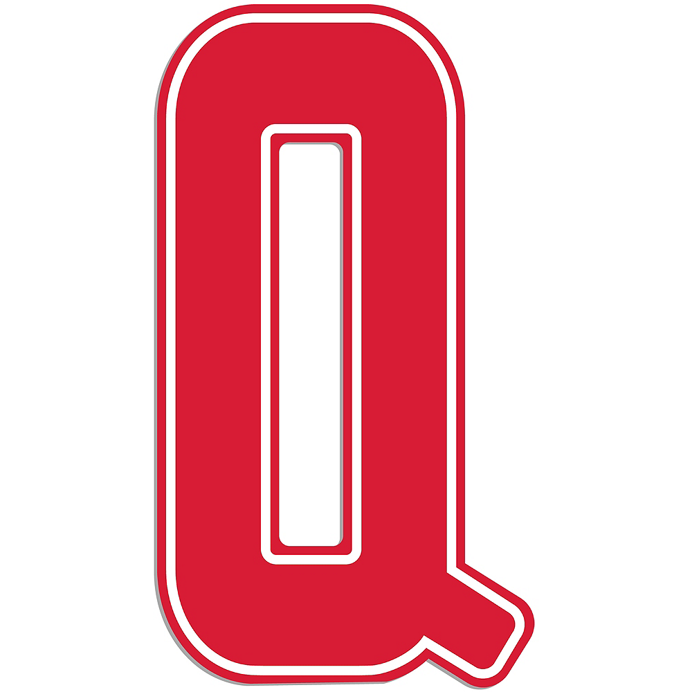 Nav Item for Giant Red Q Letter Outdoor Sign Image #1