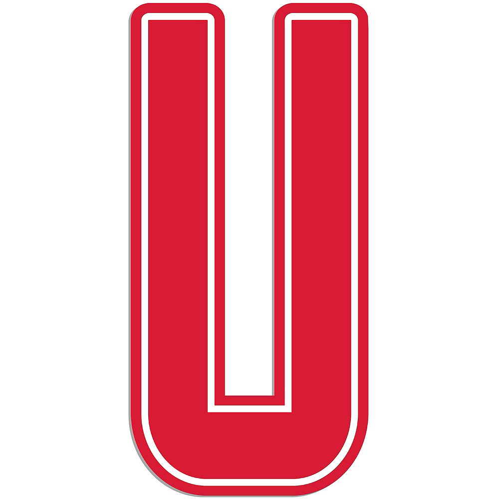Giant Red U Letter Outdoor Sign Image #1