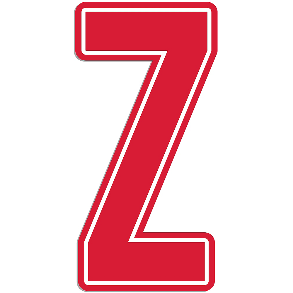 Giant Red Z Letter Outdoor Sign Image #1