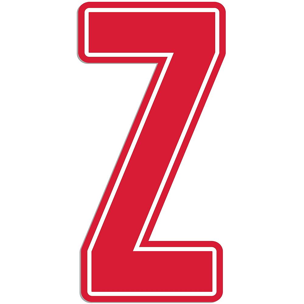 Orange Letter W Logo: Giant Red Z Letter Outdoor Sign 30in
