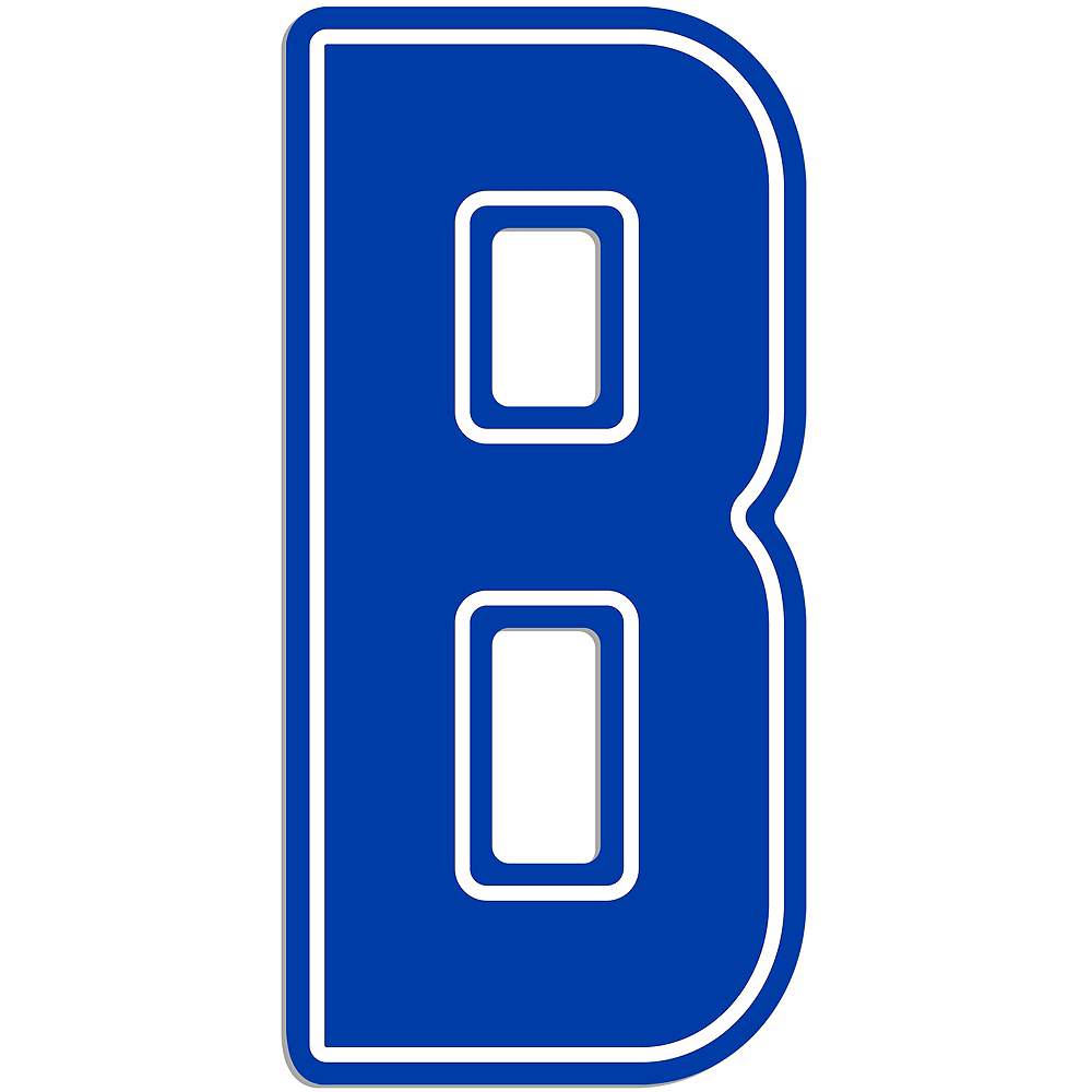 Giant Royal Blue B Letter Outdoor Sign Image #1