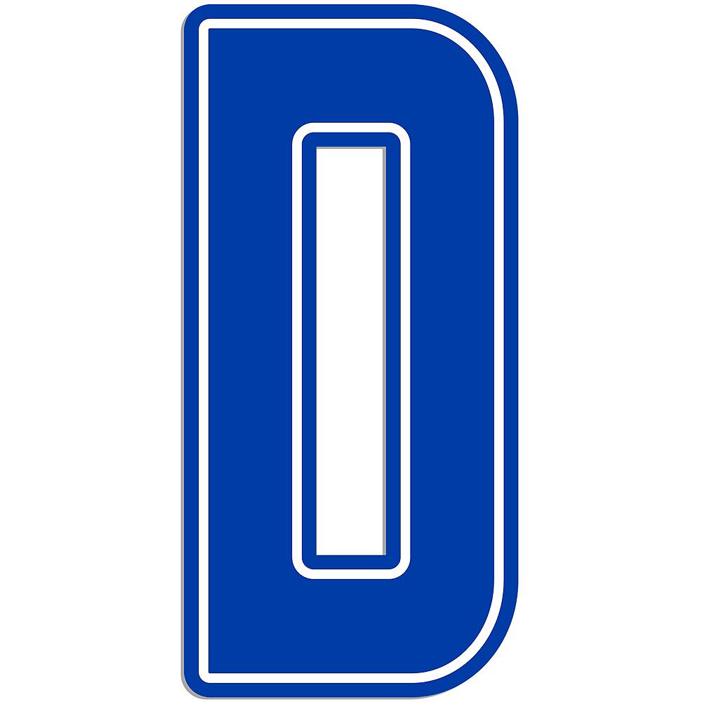 Giant Royal Blue D Letter Outdoor Sign Image #1