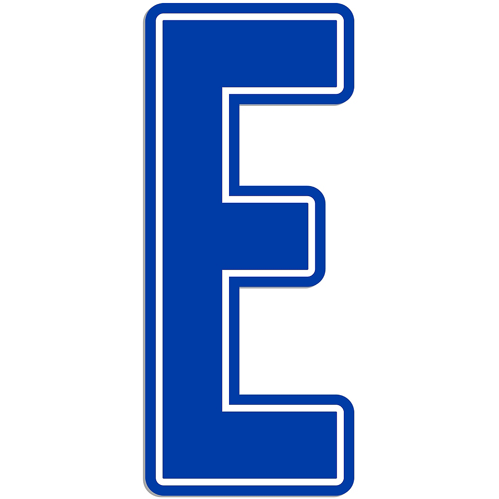 Giant Royal Blue E Letter Outdoor Sign Image #1