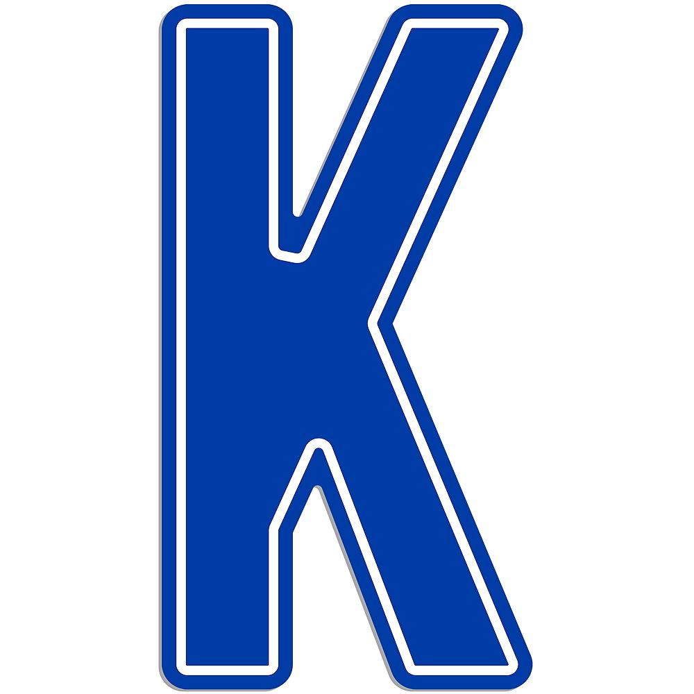 Giant Royal Blue K Letter Outdoor Sign Image #1