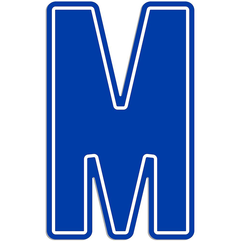 Giant Royal Blue M Letter Outdoor Sign Image #1