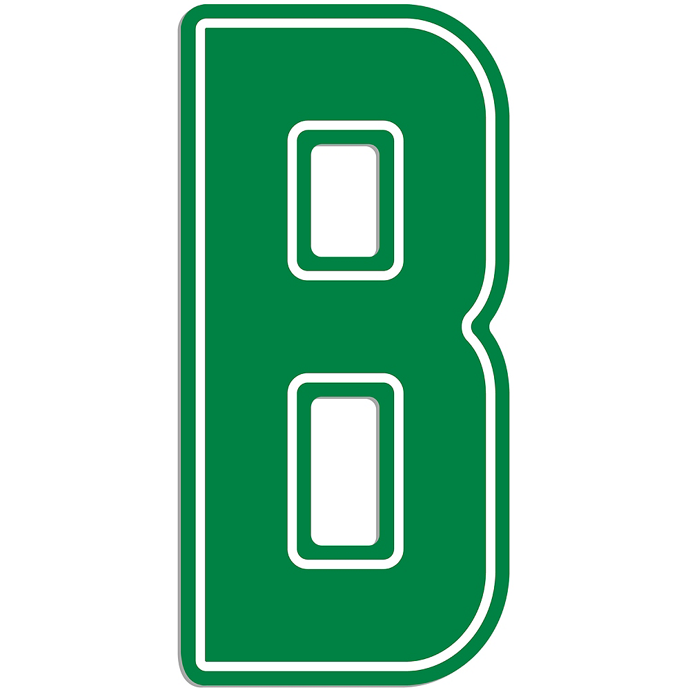 Giant Green B Letter Outdoor Sign Image #1