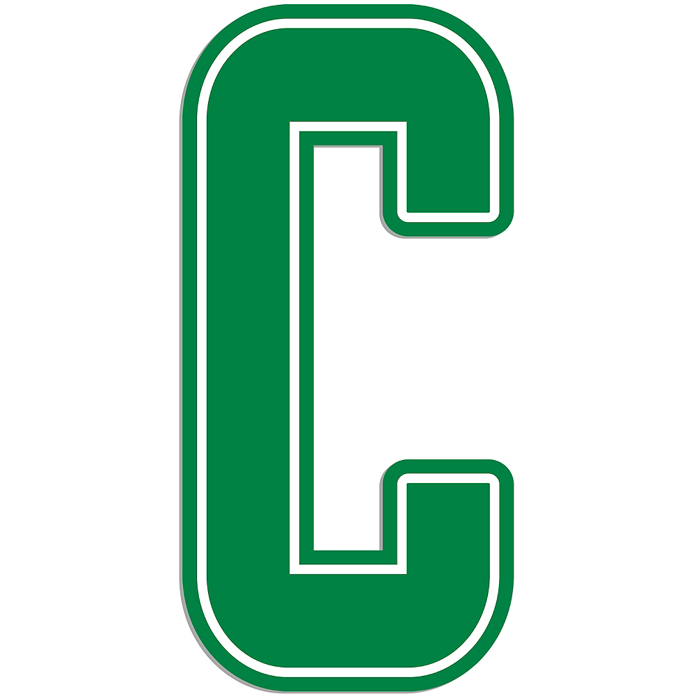 Giant Green C Letter Outdoor Sign Image #1