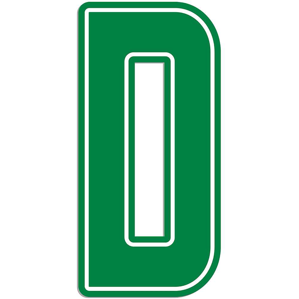 Giant Green D Letter Outdoor Sign Image #1