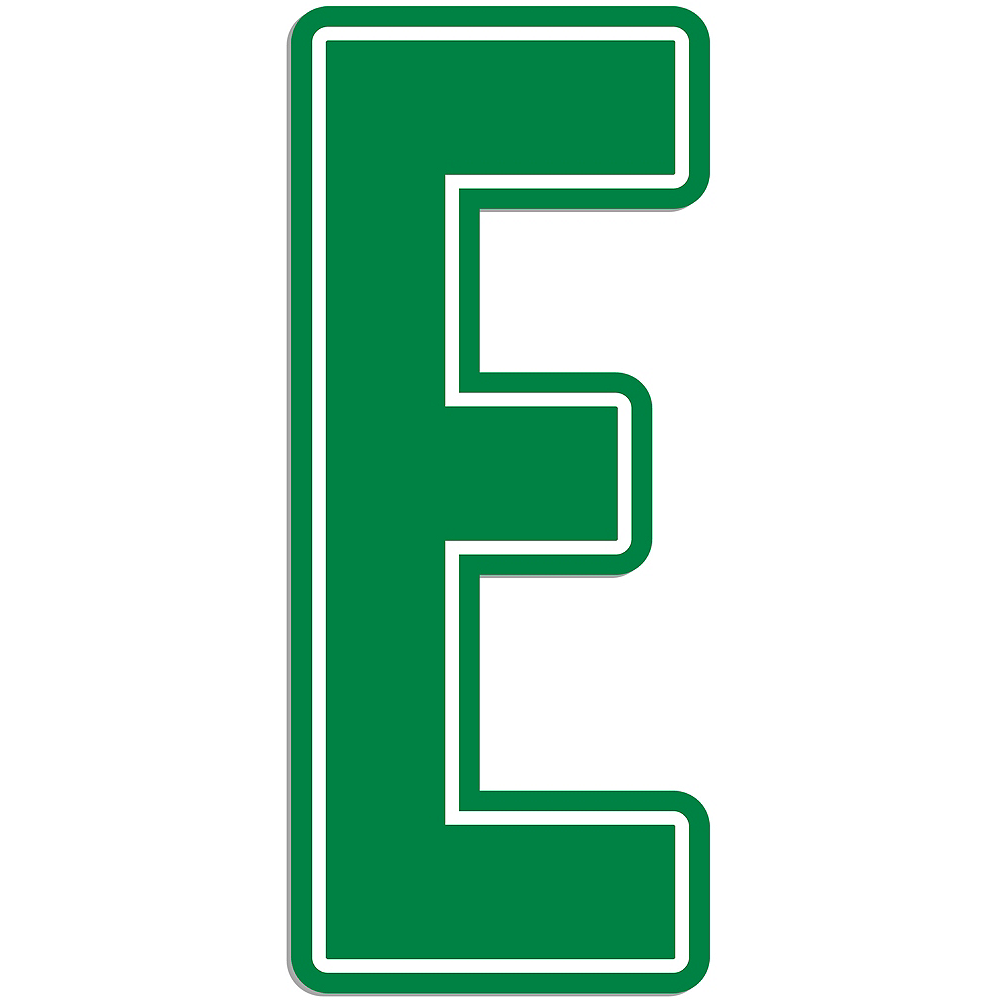 Giant Green E Letter Outdoor Sign Image #1