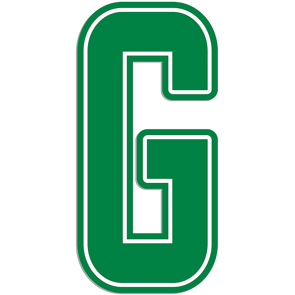 Giant Green G Letter Outdoor Sign Image #1