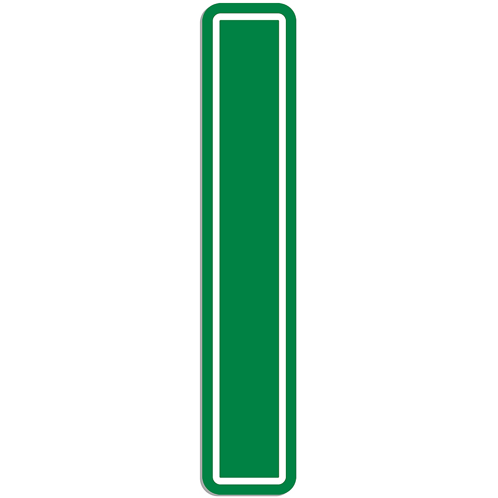 Giant Green I Letter Outdoor Sign Image #1