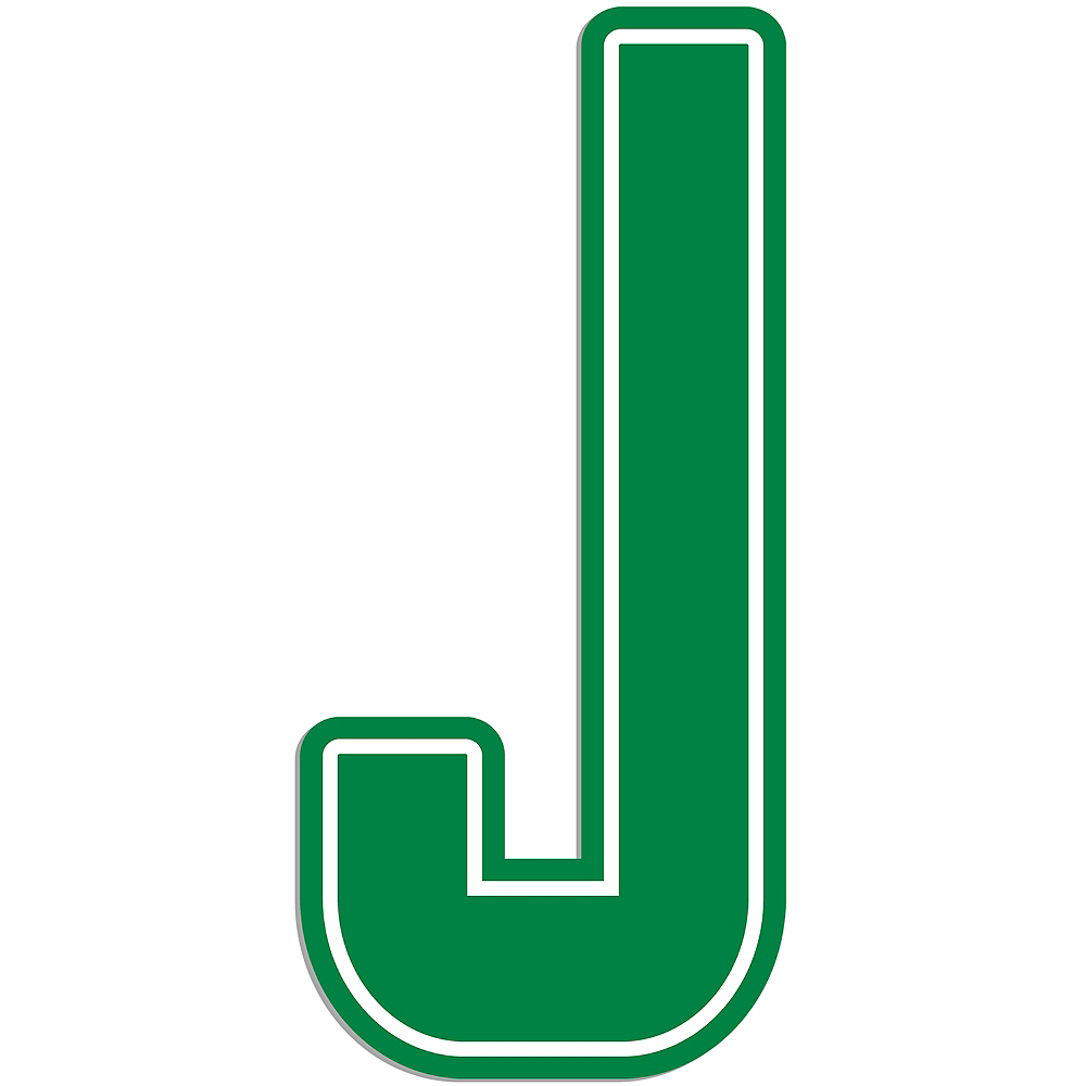 Giant Green J Letter Outdoor Sign Image #1