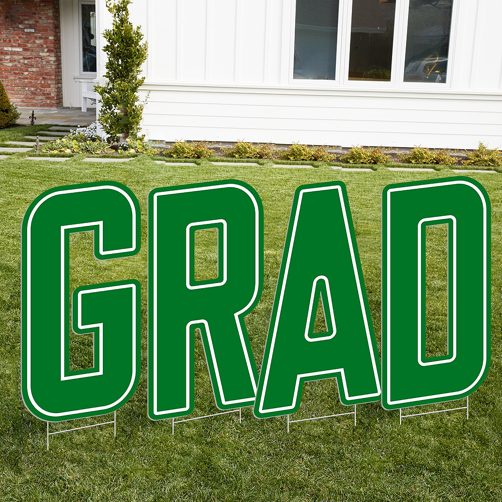 Giant Green J Letter Outdoor Sign Image #2