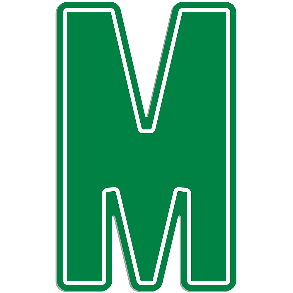 Giant Green M Letter Outdoor Sign Image #1