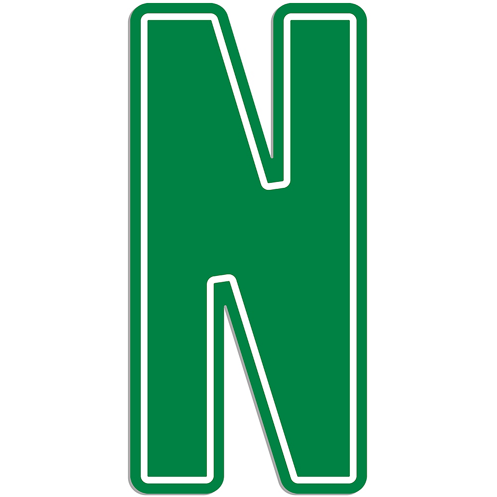 Giant Green N Letter Outdoor Sign Image #1
