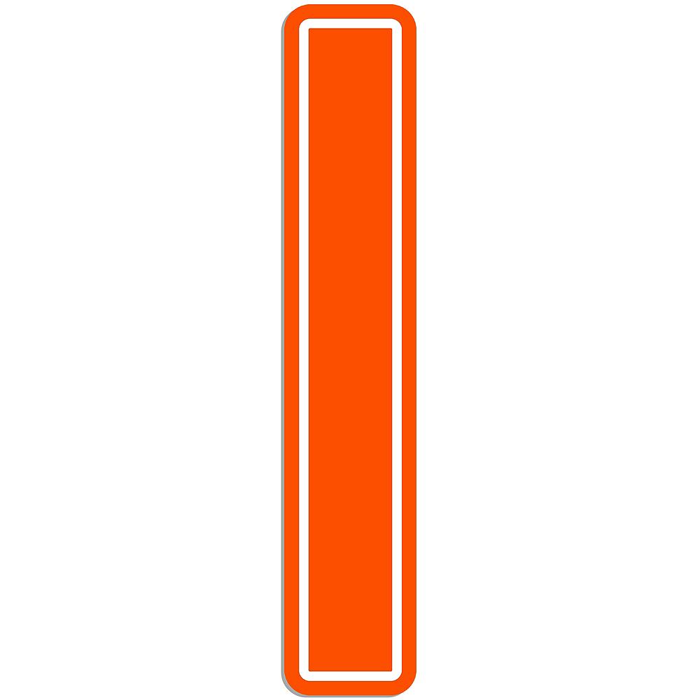 Giant Orange I Letter Outdoor Sign Image #1