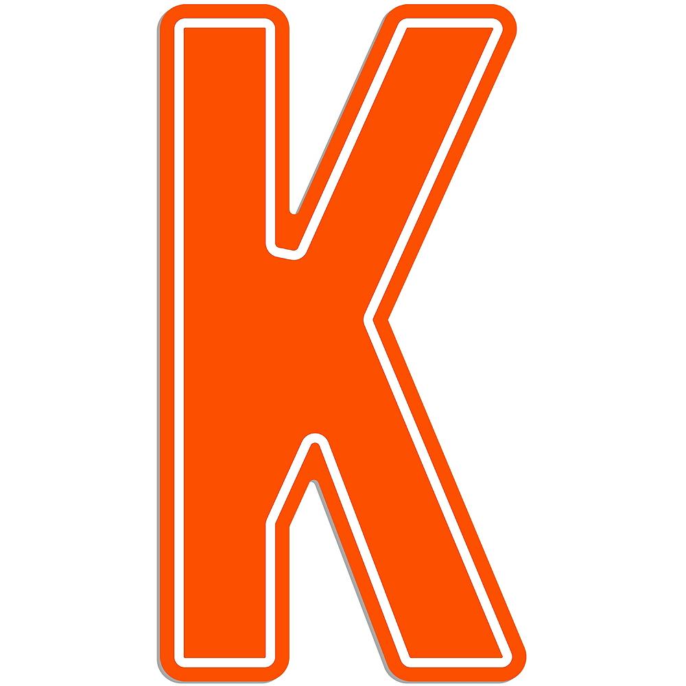 Giant Orange K Letter Outdoor Sign Image #1