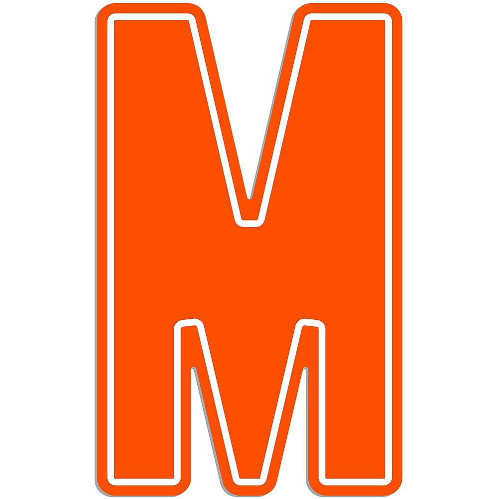 Giant Orange M Letter Outdoor Sign Image #1