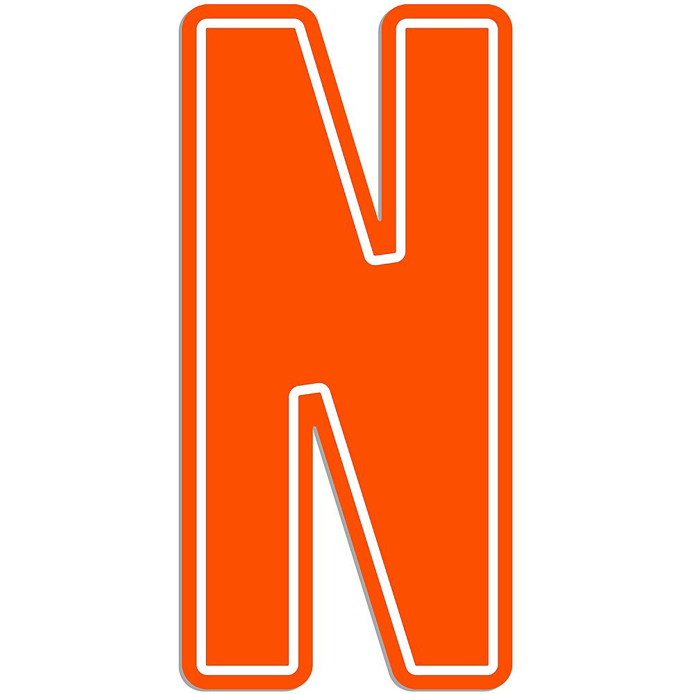 Giant Orange N Letter Outdoor Sign Image #1