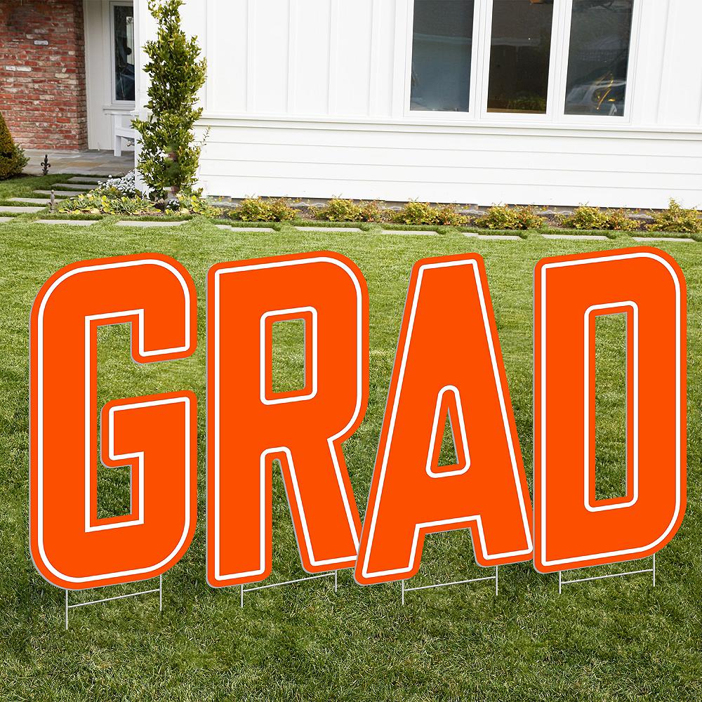 Giant Orange N Letter Outdoor Sign Image #2