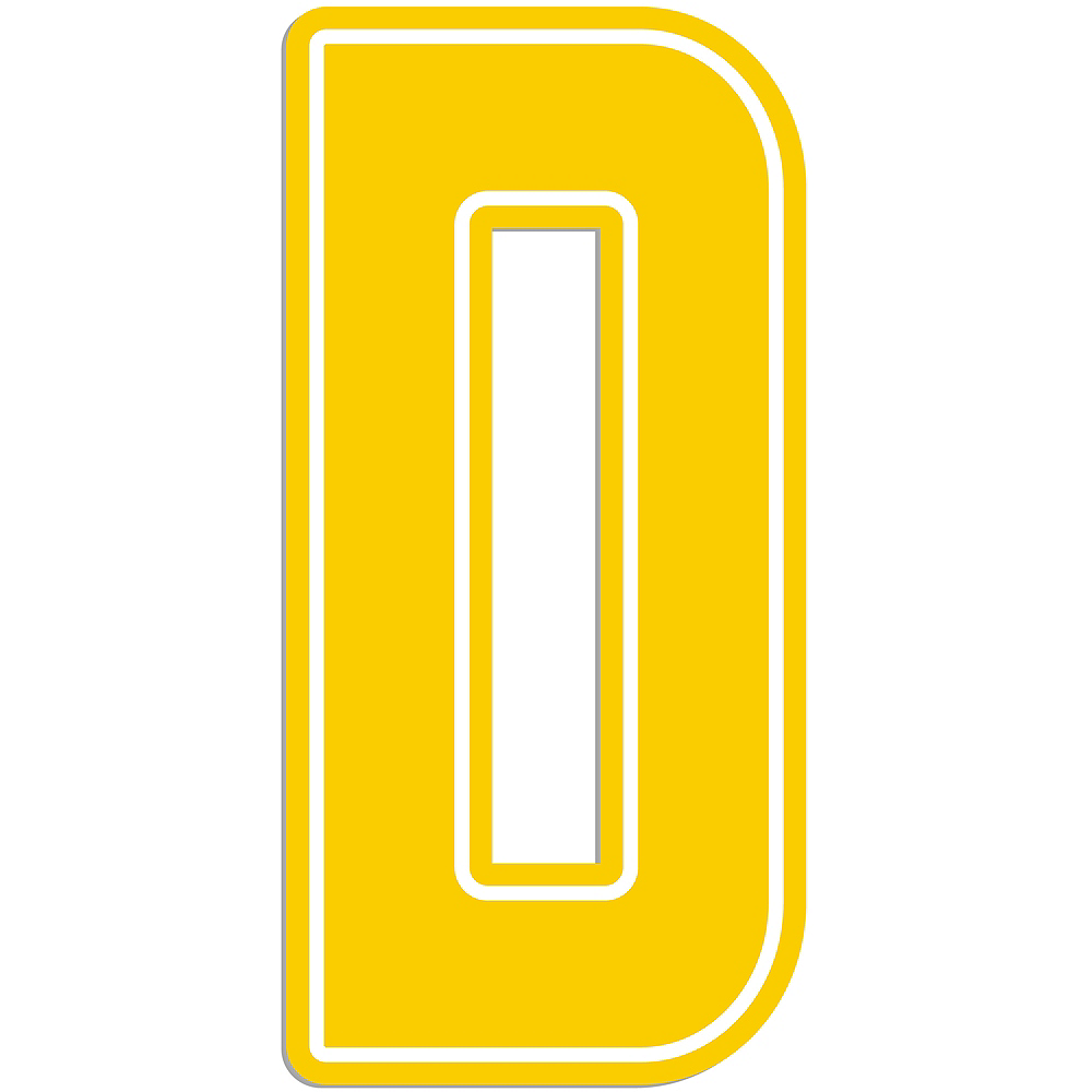 Giant Yellow D Letter Outdoor Sign Image #1