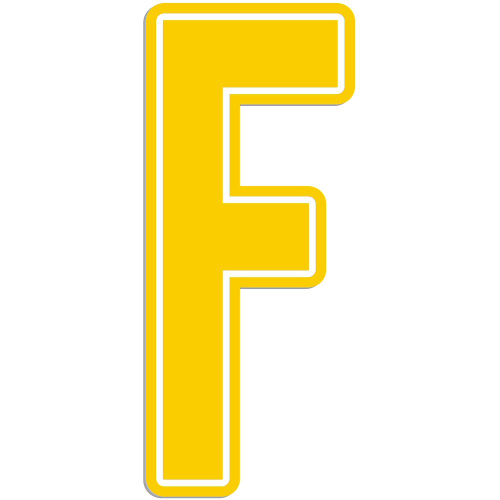 Giant Yellow F Letter Outdoor Sign Image #1