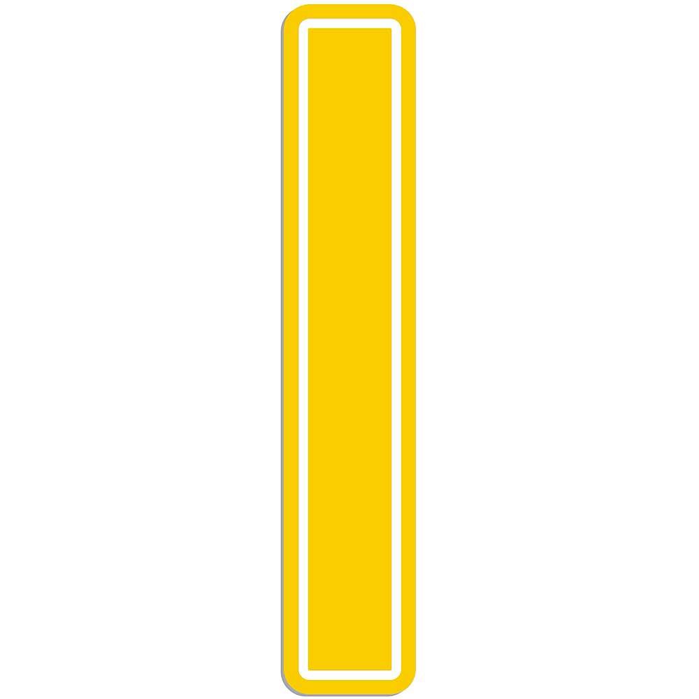 Giant Yellow I Letter Outdoor Sign Image #1
