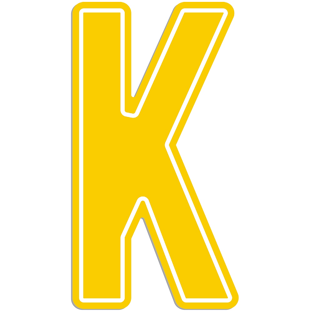 Giant Yellow K Letter Outdoor Sign Image #1