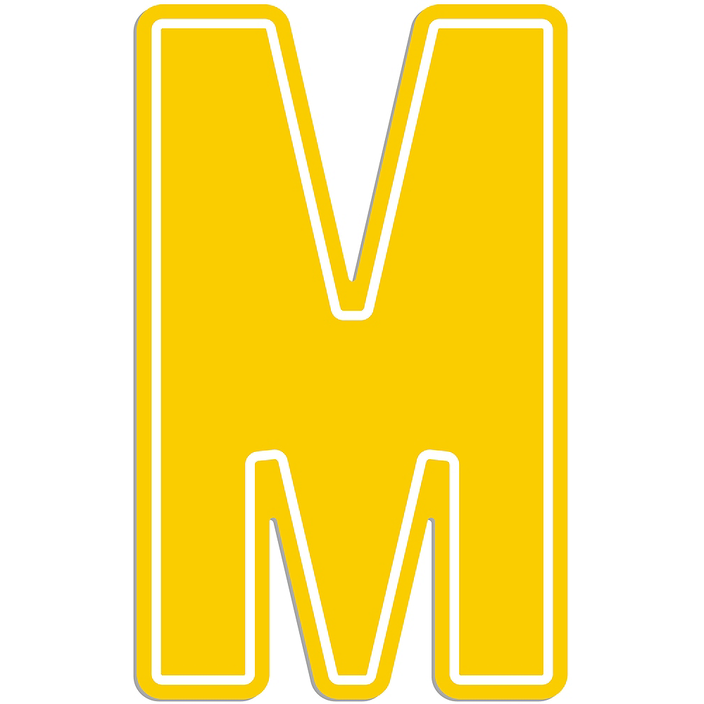 Giant Yellow M Letter Outdoor Sign Image #1