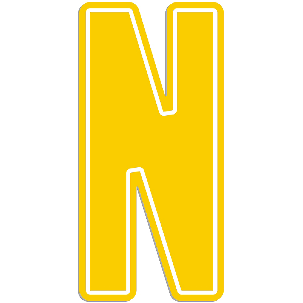Giant Yellow N Letter Outdoor Sign Image #1