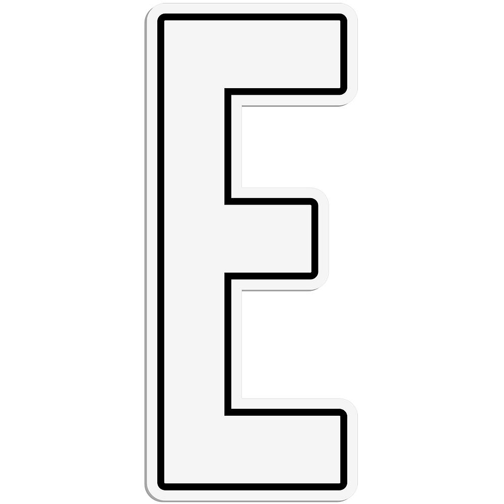 Giant White E Letter Outdoor Sign Image #1