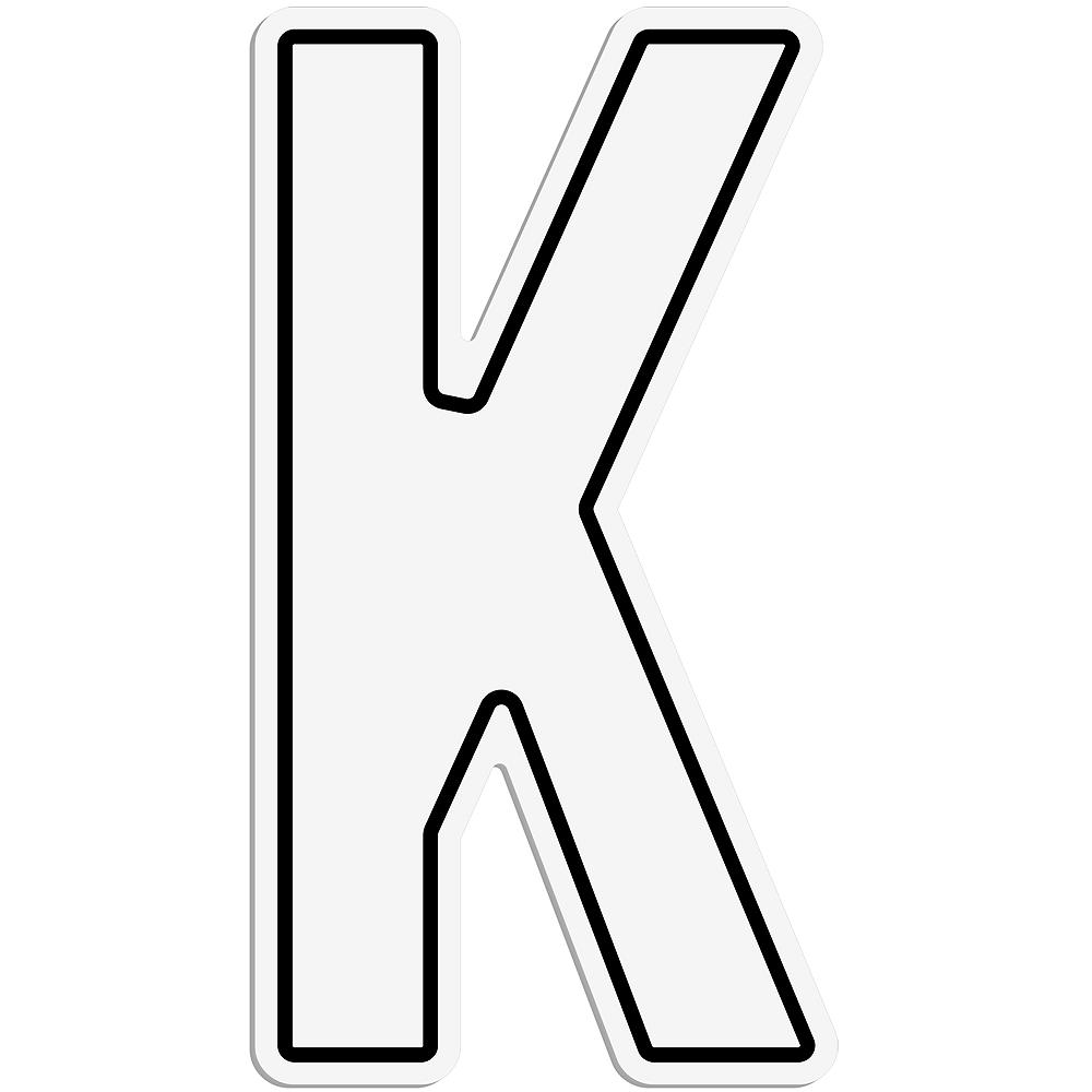 Giant White K Letter Outdoor Sign Image #1