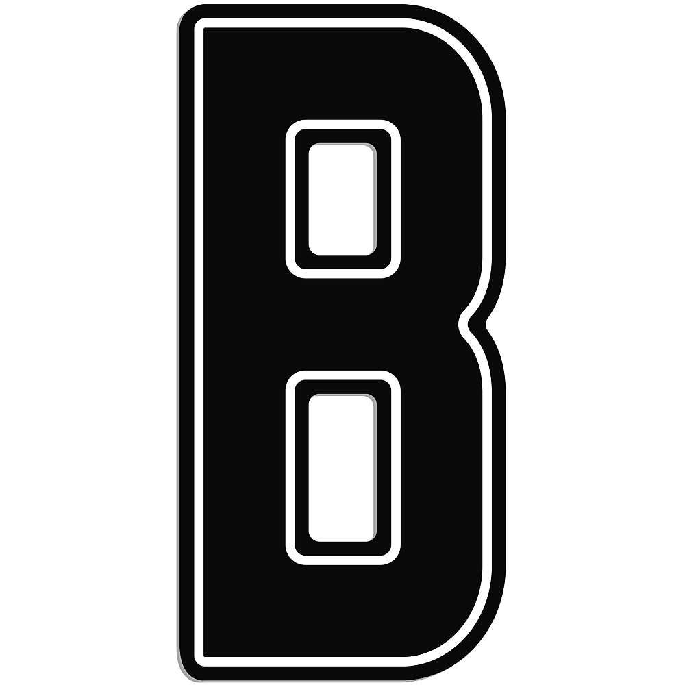 Giant Black B Letter Outdoor Sign Image #1