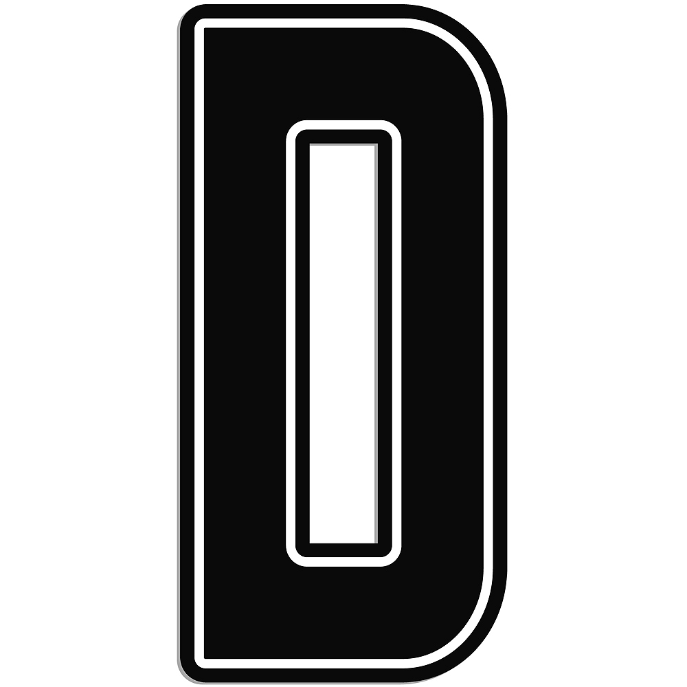 Giant Black D Letter Outdoor Sign Image #1