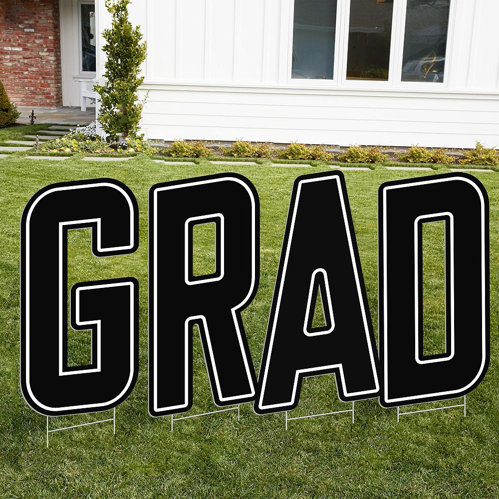 Giant Black D Letter Outdoor Sign Image #2