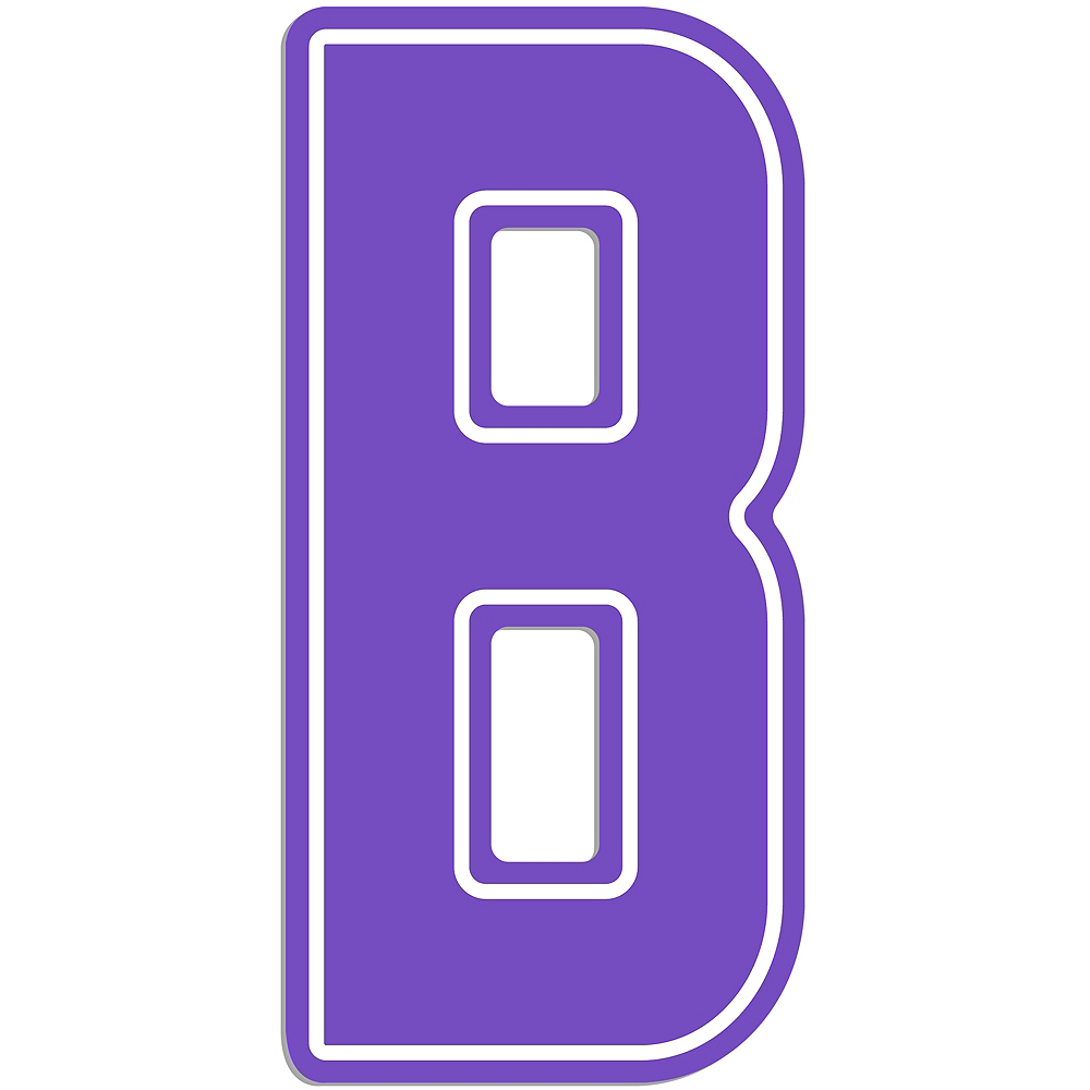 Giant Purple B Letter Outdoor Sign Image #1